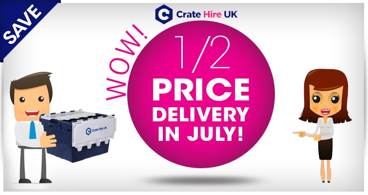 Half Price Delivery Crate Hire UK