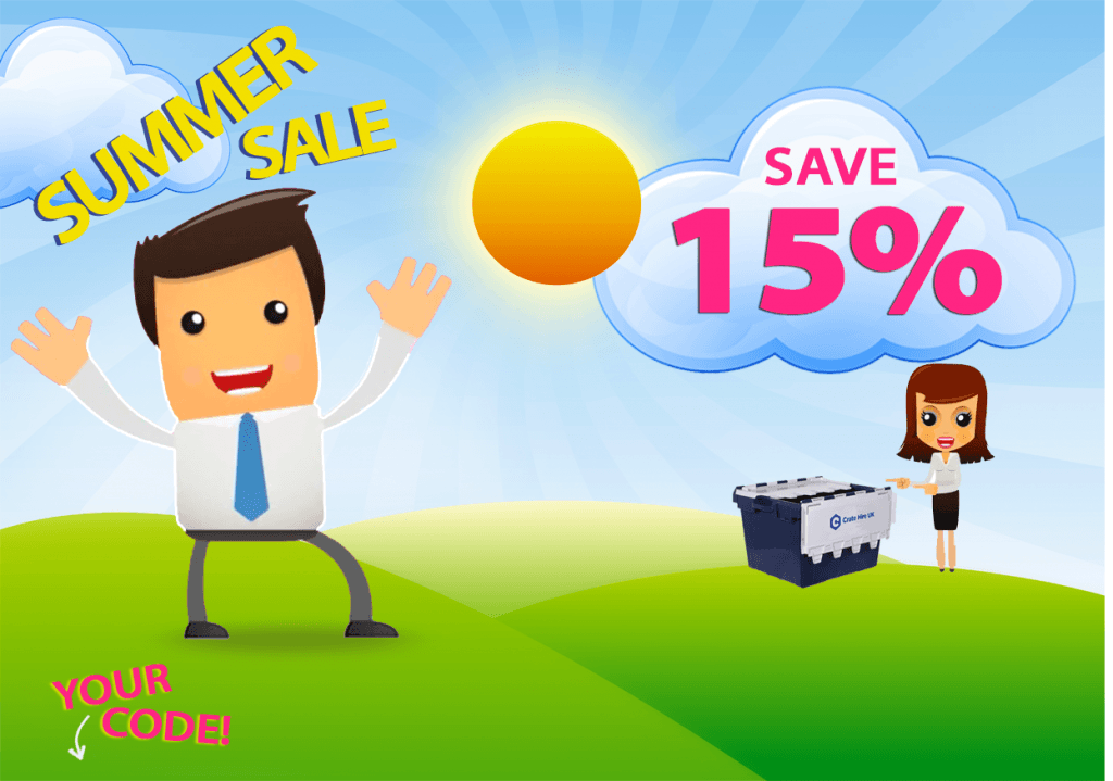 15% Summer Sale Crate Hire UK
