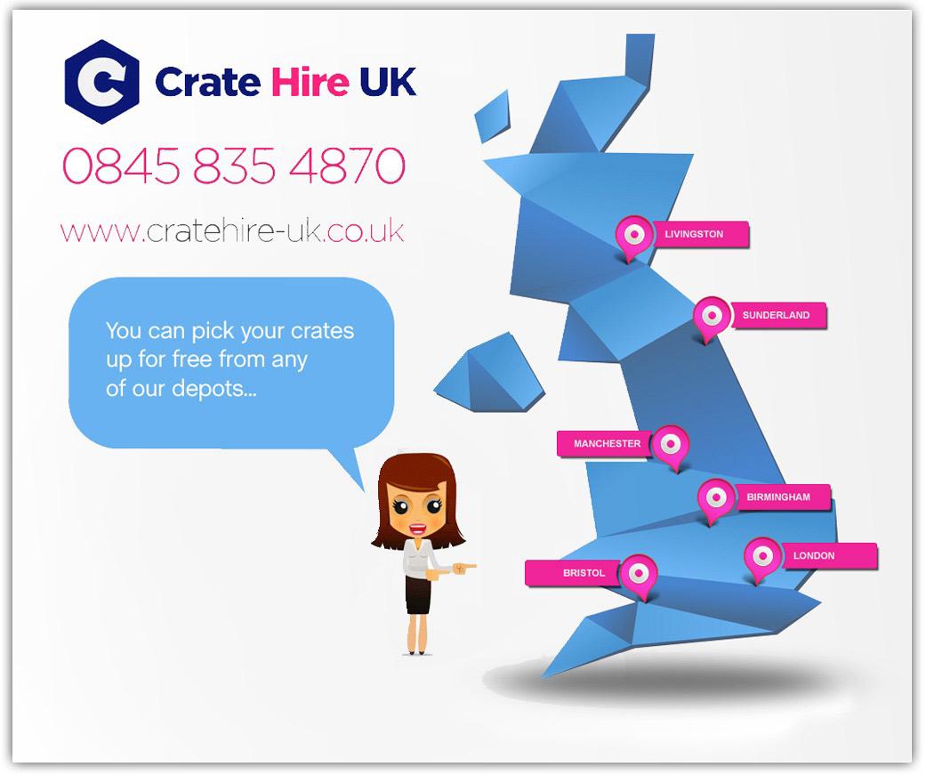 London moving boxes UK map