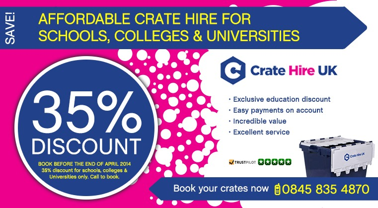Big School Discounts Crate Hire UK