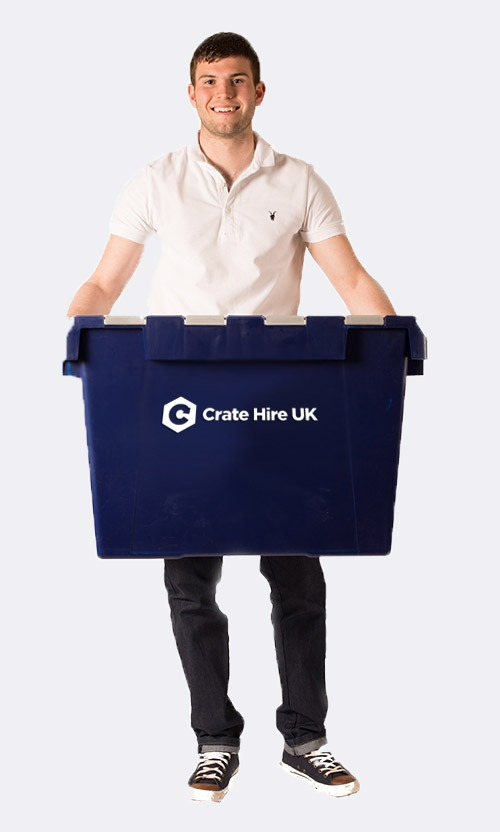 Man Holding Crate Crate Hire UK