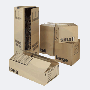 Cardboard Moving Boxes and Cartons