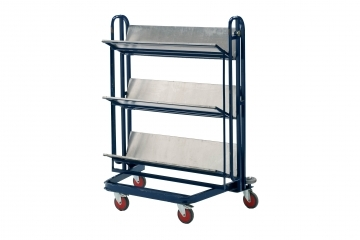 LT1F - Folding 3 Shelf Library Trolley
