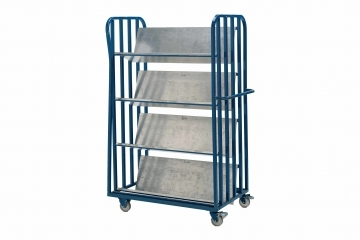 LT1  - Heavy Duty 4 Shelf Library Trolley