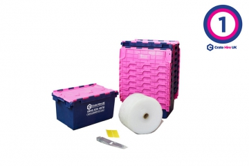 Plastic Moving Crate Rental Set Package 1 - Crate Hire UK