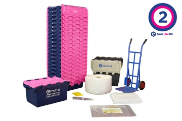 Plastic Moving Crate Rental Set Package 2 - Crate Hire UK