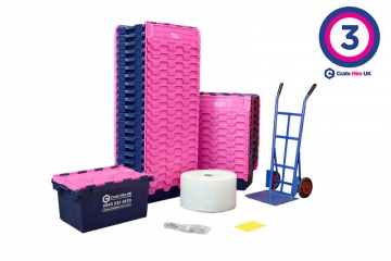 Plastic Moving Crate Rental Set Package 3 - Crate Hire UK