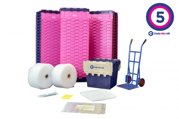 Plastic Moving Crate Rental Set Package 5 - Crate Hire UK