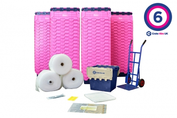 Plastic Moving Crate Rental Set Package 6 - Crate Hire UK