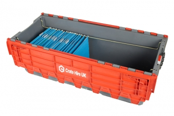 Plastic File Crates - Move & Store Your Files Easily - Crate Hire UK