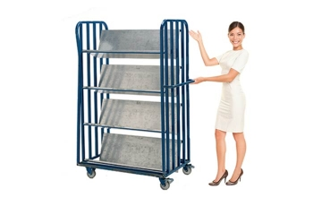 Library Trolley Hire To Move Books Easily - Crate Hire UK - Thumbnail 1