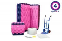 Plastic Moving Crate Rental Set Package 4 - Crate Hire UK - Thumbnail 1